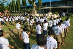 Scolari tailandesi, scolari della Tailandia Fotografia Stock Libera da Diritti