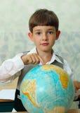 scolaro & globo Immagini Stock