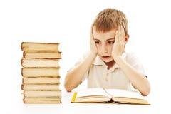 Scolaro arrabbiato con le difficoltà di apprendimento Immagine Stock Libera da Diritti