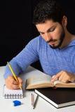 Scolaro che studia duro Immagine Stock
