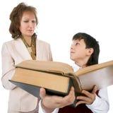 Scolaro ed insegnante Immagine Stock