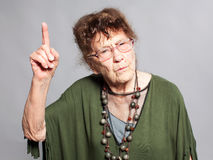 Scolded the old female Royalty Free Stock Images