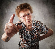 Scolded the old woman Stock Images