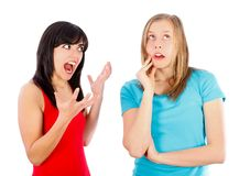 Scolding Royalty Free Stock Image