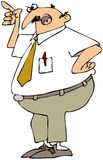 Scolding Man. This illustration depicts an angry businessman pointing with a hand on his hip Royalty Free Stock Photo