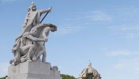 Scolpisca il presente all'interno del monumento nazionale italiano chiamato Th Fotografie Stock