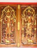 Scolpito nella porta del tempio. Immagine Stock