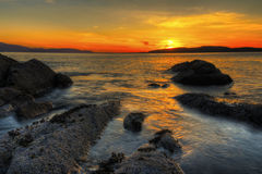 Scoltland sunset Royalty Free Stock Images