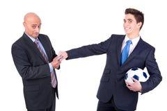 Scommessa di calcio fotografie stock libere da diritti