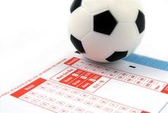 Scommessa di gioco del calcio fotografie stock libere da diritti