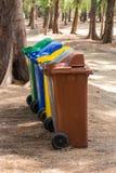 Scomparti colorati Fotografie Stock Libere da Diritti