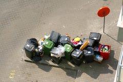 Scomparti di immondizia Fotografia Stock Libera da Diritti