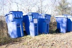 Scomparti di riciclaggio Fotografie Stock