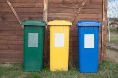 Scomparti di riciclaggio Fotografie Stock Libere da Diritti