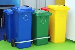 Scomparti di riciclaggio Fotografia Stock