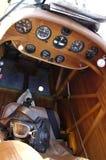 Scompartimento di passeggero di un'annata dell'aeroplano Fotografie Stock Libere da Diritti