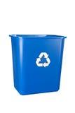 Scomparto di riciclaggio blu Immagine Stock