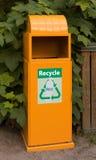 Scomparto di riciclaggio di plastica Fotografia Stock