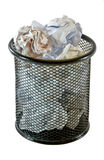 Scomparto di rifiuti pieno Fotografie Stock