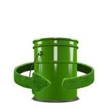 Scomparto verde Riciclaggio dell'isolamento di concetto su bianco Immagine Stock