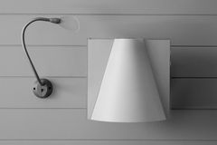 Sconce. Examples of illumination. Black and white Royalty Free Stock Photo