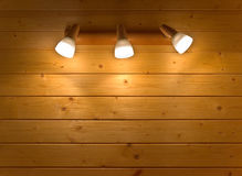 Sconce on a wooden wall Royalty Free Stock Photography
