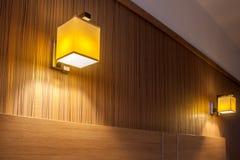 2 sconces стены светлых стоковая фотография rf