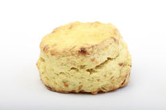 Scone. Freshly-baked scone on white background Royalty Free Stock Image