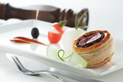 Scone. A delicious blueberry scone for dessert Stock Photo