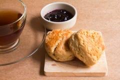 Scone and blueberry jam Stock Image