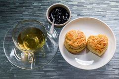 Scone and blueberry jam. Stock Photography