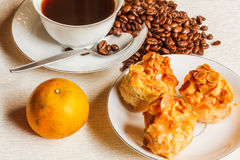 Scone Bread with Coffee Royalty Free Stock Photo