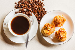 Scone bread and a cup of coffee Stock Photo