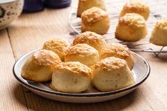 Scone with cheese Royalty Free Stock Image