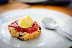 Scone de la fruta de la dieta de Paleo Fotografía de archivo libre de regalías