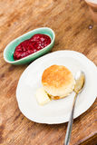 Scone and jam Royalty Free Stock Image