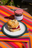 Scone and Jam Stock Photos