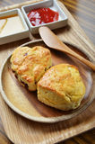 Scone with jam Royalty Free Stock Images