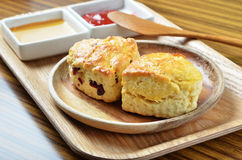 Scone with jam Stock Photography