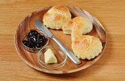 Scone with jam Stock Image