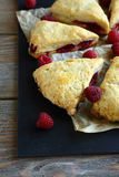 Scone with raspberry Stock Photography