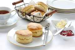 Scone, ruptura de chá da tarde Imagem de Stock Royalty Free