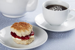 Scone and Tea Royalty Free Stock Image