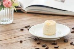 Scone on white saucer Stock Photo