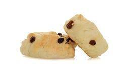 2 scones с изюминками Стоковое фото RF
