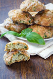 Scones with basil and parmesan Royalty Free Stock Images
