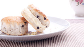Scones and clotted cream Stock Photography