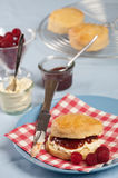 Scones with clotted cream and jam Stock Image