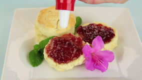 Scones And Cream stock video footage