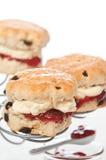 Scones With Jam & Cream Stock Images